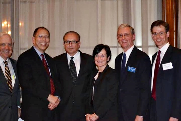 Vern Schooley (President, Judge Paul R. Michel Intellectual Property American Inn of Court, and Partner, Fulwider Patton LLP); Honorable George H. Wu (U.S. District Court, C.D. Cal.); Honorable S. James Otero (U.S. District Court, C.D. Cal.); Honorable Kathleen M. O'Malley (U.S. Court of Appeals, Fed. Cir.); Honorable Gary A. Feess (U.S. District Court, C.D. Cal.); Ted Chandler (Partner, Sidley Austin LLP)