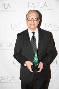 Recipient of 2017 LAIPLA Distinguished Public Service Award: Judge S. James Otero