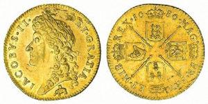 1686-Guinea-elephant-and-castle-James-II