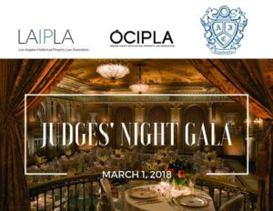 LAIPLA co-sponsors Judges' Night Gala in Los Angeles