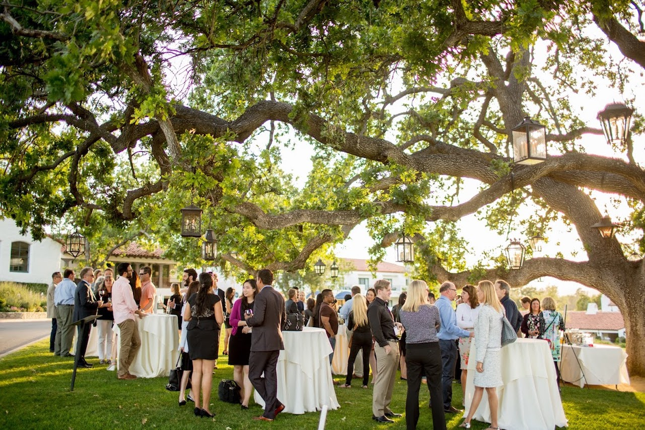Opening night reception on the lawn of the Ojai Valley Inn at the LAIPLA Spring Seminar 2018