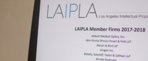 LAIPLA Member Firms and Companies signage