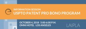 LAIPLA USPTO Patent Pro Bono Event - October 4, 2018