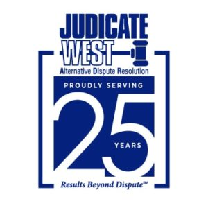 Judicate West 25th Anniversary logo