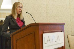Sarah Brooks speaks at LAIPLA's 2019 Spring Seminar
