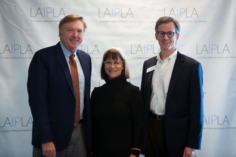 Justin Hughes, Peggy Rajski, and Ted Chandler at LAIPLA TechTainment™ 5.0