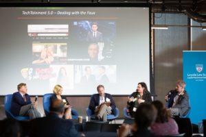 Justin Hughes, Danielle Van Lier, Rebecca Delfino, Eugene Volokh, Ben Sheffner at LAIPLA TechTainment™ 5.0