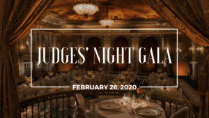Promotional banner for LAIPLA Judges' Night Gala in Los Angeles, CA