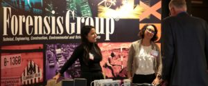 Forensis Group sponsorship booth at LAIPLA networking event