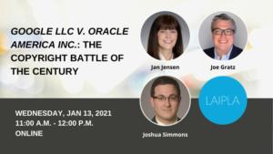 Google vs Oracle Copyright Battle of the Century - Wednesday, January 13, 2021