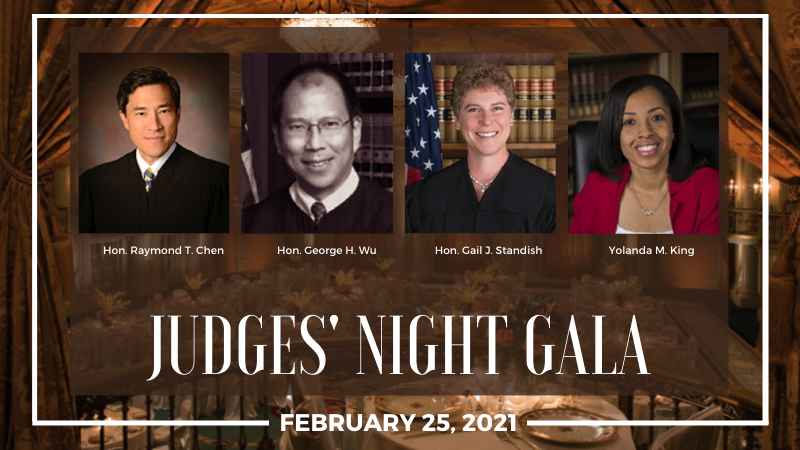 Judges' Night Gala 2021- Virtual Panel Discussion: Thursday, February 25, 2021, 5:00 - 6:00 PM