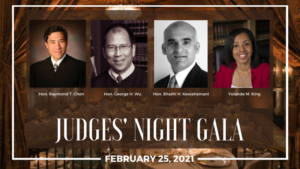 Judges' Night Gala 2021- Virtual Panel Discussion: Thursday, February 25, 2021, 5:00 - 6:00 PM